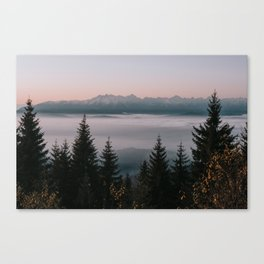 Faraway Mountains - Landscape and Nature Photography Canvas Print