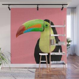 Toucan Bird - Pink Wall Mural