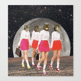 Kitty Gang Canvas Print