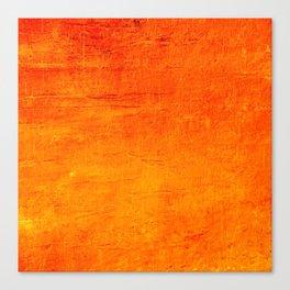 Orange Sunset Textured Acrylic Painting Canvas Print