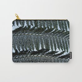 Real Fern Pattern Carry-All Pouch