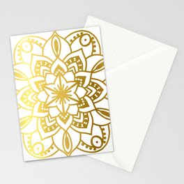 Gold Mandala 1 Stationery Cards