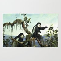 arctic monkeys Area & Throw Rugs featuring Monkeys by ZenzPhotography