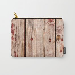 Used Rough Wooden Planks Carry-All Pouch