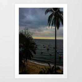 Dreamy Mexican Beach Sunset Art Print
