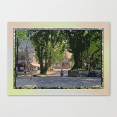 A LAZY MORNING ON THE STREETS OF POKHARA NEPAL Canvas Print