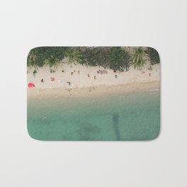 Aerial Secret Beach Koh Phangan Thailand Bath Mat