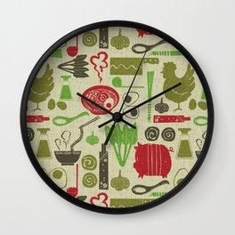 Let's enjoy cooking Ramen noodle earth brown Wall Clock