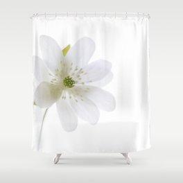 Little White Flower Shower Curtain