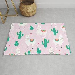 Llamas & Cactus Rug