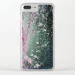 Water in pink Clear iPhone Case