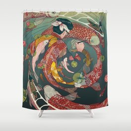 Ukiyo-e tale: The creative circle Shower Curtain