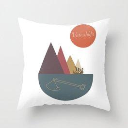 Icelandic Magical Stave - Vatnahlifir  Throw Pillow