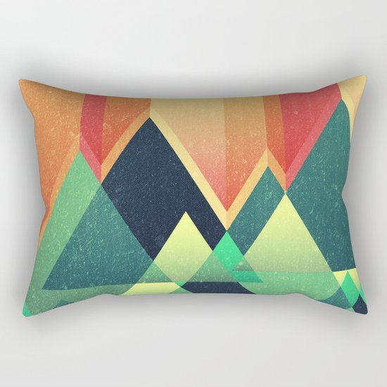 Summer Mountains Rectangular Pillow