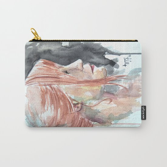 Redhead watercolor Carry-All Pouch