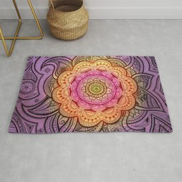 Colorful Mandala Rug