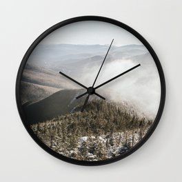 Winter in the White Mountains Wall Clock