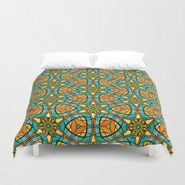 Kaleidoscope Pattern Flower. Duvet Cover