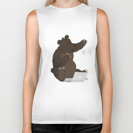 Bear With Me Bro! Poster Biker Tank