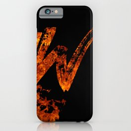 Burning on Fire Letter W iPhone Case