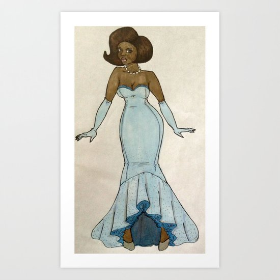 Dream girl. Art Print