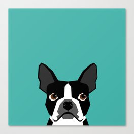 Boston Terrier head dog breed gifts cute pupper boston terriers must haves Canvas Print