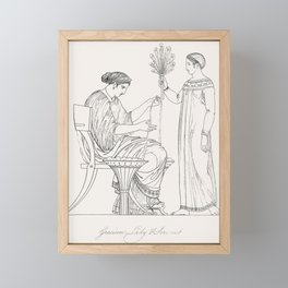 Priest of Bacchus  attendant from An  of the Egyptian Grecian and Roman costumes by Thomas Baxter(17 Framed Mini Art Print