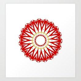 Mandala with colon cancer ribbon Art Print