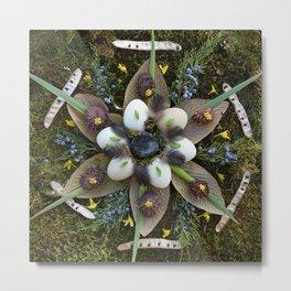 Nature Mandala: March Metal Print