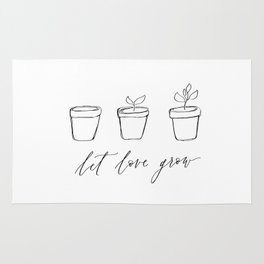 Let Love Grow - Succulents Rug