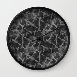 Textured pattern grey shades. Wall Clock