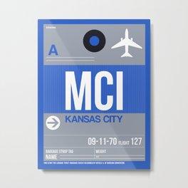 MCI Kansas City Luggage Tag 2 Metal Print
