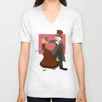 valentine V-neck T-shirts featuring Valentine by Brianna