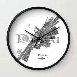 Dubai Map Wall Clock