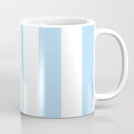 Stripes (Parallel Lines) - Blue White Coffee Mug