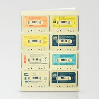 pastel Stationery Cards featuring All Tomorrow's Parties by Cassia Beck