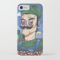luigi iPhone & iPod Cases featuring Luigi by Cody Fisher