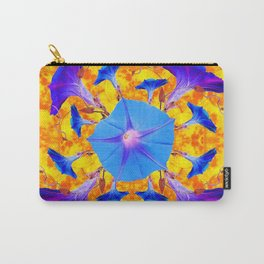 Baby Blue & Purple Morning Glories Art Carry-All Pouch