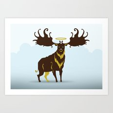 God's Zoo: Irish Elk Art Print