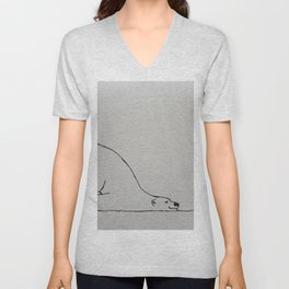 A Polar Bear's Christmas Wish (I Hope It's A Seal) Unisex V-Neck
