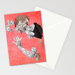 Newspaper LOVE Stationery Cards