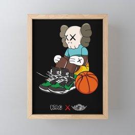 Kaws x jordan 1 Poster Framed Mini Art Print