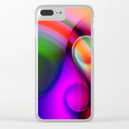color whirl -10- Clear iPhone Case