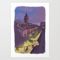 Medieval Fair (color) Art Print