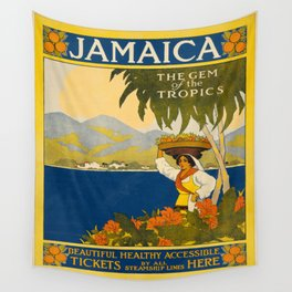 Vintage poster - Jamaica Wall Tapestry