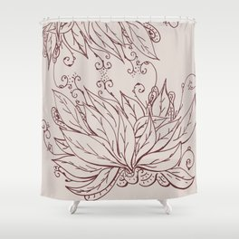 Growing of sorrow Shower Curtain