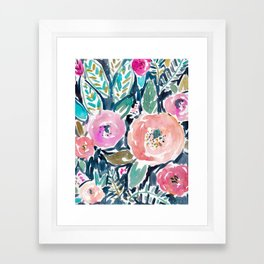GARDENS OF CAPITOLA Watercolor Floral Framed Art Print