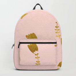 Pink Gold Foil 03 Backpack