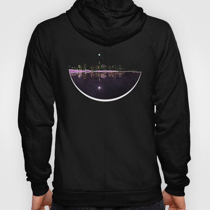 Moonlight In The City Skyline Design Hoody