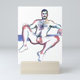 RICKY, Nude Male by Frank-Joseph Mini Art Print